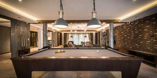 Professional pool table setup in Palm Bay content img
